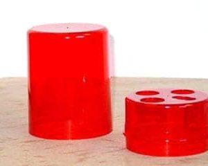 DIE BOX ROUND RED